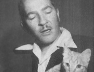 Robert Heinlein and Ginger Cat.